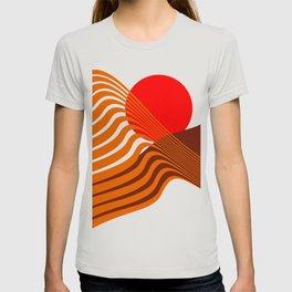 Beyond The Fog - Red & Brown T-shirt