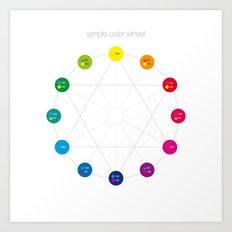 Simple Color Wheel Art Print