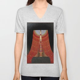 "Art Deco Illustration ""The Red Sea"" Unisex V-Neck"