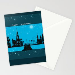 Winter night . Christmas. Stationery Cards