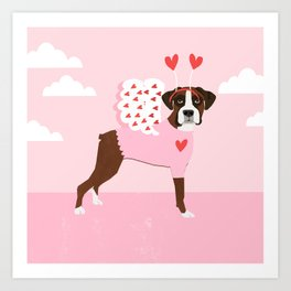 Boxer love bug valentines day gifts for dog lover must have boxers Art Print