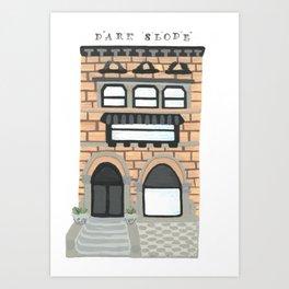 Park Slope Brownstone Art Print