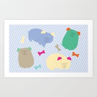 Doggy Day Afternoon Art Print