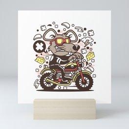 RAT MOTORCROSS Mini Art Print