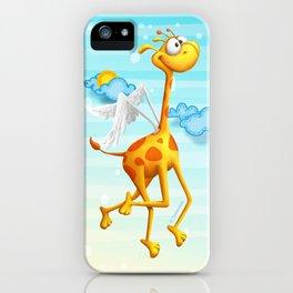 Fly Giraffe fly iPhone Case