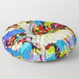 Flower magic - Abstract in Perfection Floor Pillow