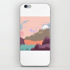 Pink Sky Mountain iPhone & iPod Skin
