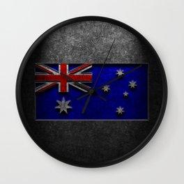 Australian Flag Stone Texture Wall Clock