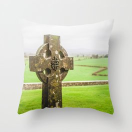 Celtic High Cross Throw Pillow
