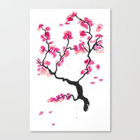 cherry blossoms Canvas Prints featuring Cherry Blossoms by Amaya