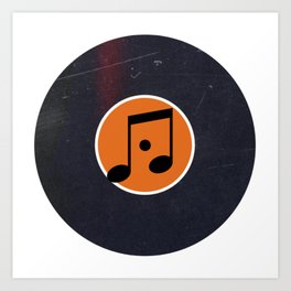 Vinyl Record Art & Design | Music Sixteenth Note Art Print