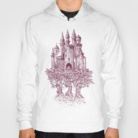 castle Hoodies featuring Castle in the Trees by Rachel Caldwell