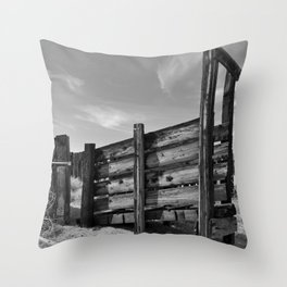 Sun Decayed Corral Throw Pillow