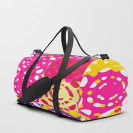 graffiti circle pattern abstract in pink yellow and purple Duffle Bag