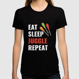 Eat Sleep JUGGLE Repeat T-shirt