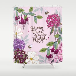 Bloom Where You Are Planted, Sweet Williams Shower Curtain