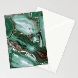 Luxury Malachite Marble Agate Stationery Cards