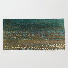 Landscape Dots - Night Beach Towel