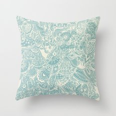 Detailed rectangle, light blue  Throw Pillow