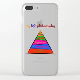 Kephalonissa - my life philosophy Clear iPhone Case