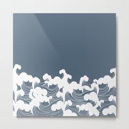 Blue Japanesse Wave Metal Print
