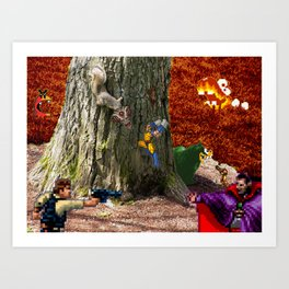 Lavas Quarrel Art Print