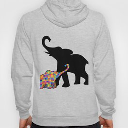 Elephant Autism Awareness Support Hoody