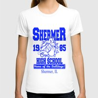 the breakfast club T-shirts featuring The Breakfast Club  |  Shermer High School Logo  |  John Hughes Universe by Silvio Ledbetter