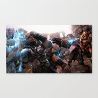 middle earth Canvas Prints featuring Middle-Earth: Shadow of Mordor by SB Art Productions