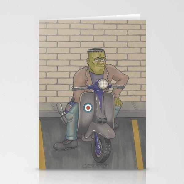 Frankenstein Scooter Stationery Cards