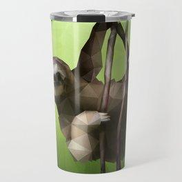Sloth (Low Poly Lime) Travel Mug