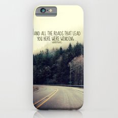 WINDING ROADS ON HWY 101  iPhone 6 Slim Case