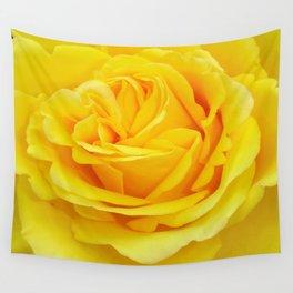 Beautiful Yellow Rose Closeup Wall Tapestry