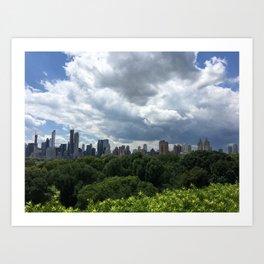 Central Park Skyline Art Print