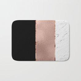 Rose metallic striping - marble and onyx Bath Mat