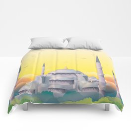 Mosque under the sun Comforters