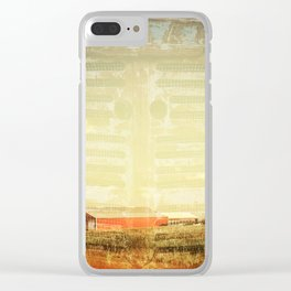 Farm And Farmall Double Exposure Clear iPhone Case