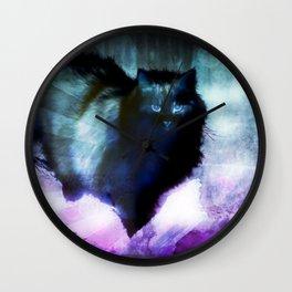 The Spooky Cat Wall Clock