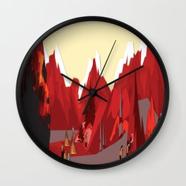 A Stone Age Landscape Wall Clock