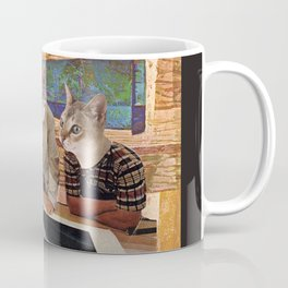 Cats Discuss a Project Coffee Mug