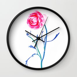 One Flower - Study 2. Front Wall Clock