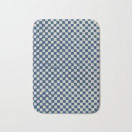 Vintage Checkerboard Block Print by Pierre-Fiacre Perdoux Bath Mat