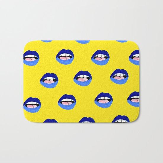 Blue Lips Bath Mat