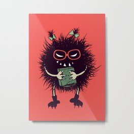 Evil Bug Student Loves To Read Metal Print