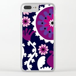Positively Purple Clear iPhone Case