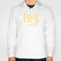 brasil Hoodies featuring Brasil Lettering Inverted by Roberlan Borges