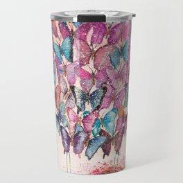 Butterfly Hot Air Balloon Illustration. Travel Mug