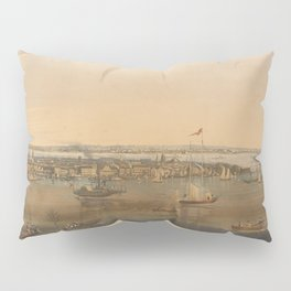 Vintage Pictorial Map of New York City (1844) Pillow Sham