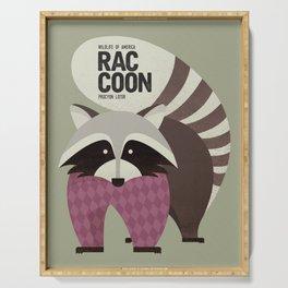 Hello Raccoon Serving Tray