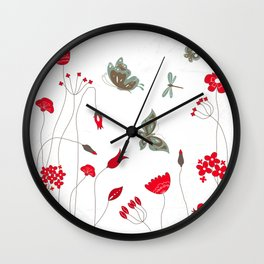 Tatemae Japanese White Wall Clock